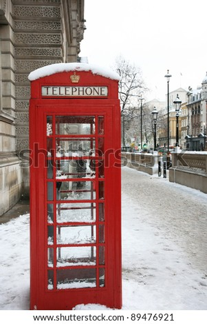 Red phone booth is one of the most famous icons of London - stock photo