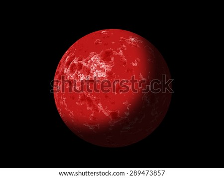 Red planet - stock photo