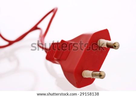 Red Plug - stock photo