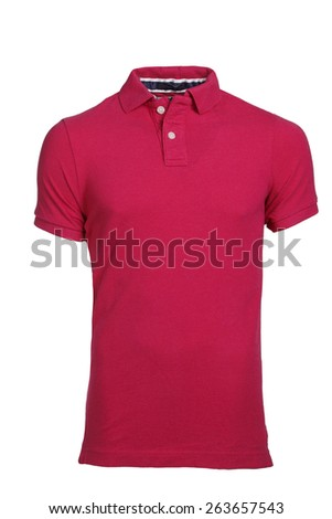 red Polo Shirt isolated - stock photo