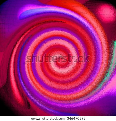 Red purple pink psychedelic spiral fractal pattern background - stock photo