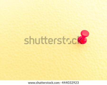 Red pushpin isolated on white background - stock photo
