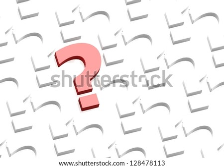 Red question mark - stock photo