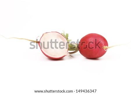 Red radish and slice. - stock photo