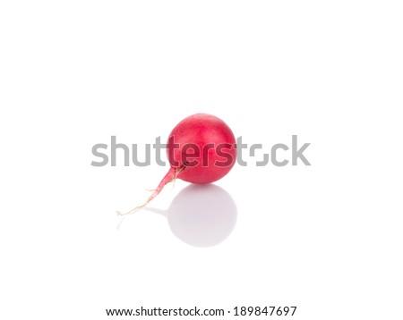 Red radish. Isolated on a white background. - stock photo