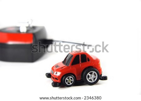 red RC car - stock photo