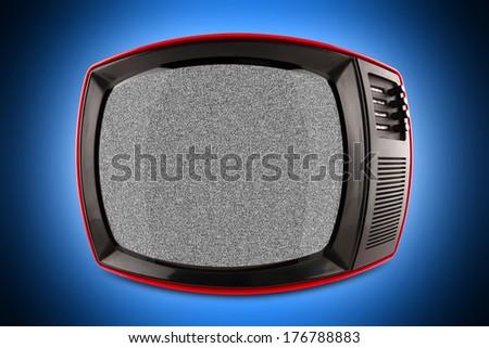 red retro tv - stock photo