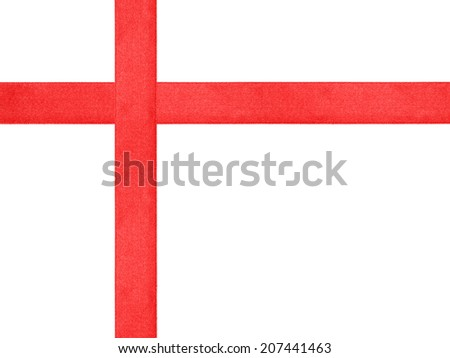 red ribbon cross template isolated, just put bow on it - stock photo