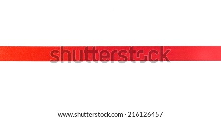Red ribbon isolated on white background - stock photo