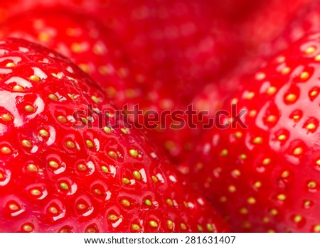 red ripe strawberries. food background - stock photo