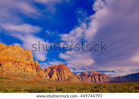 Red Rock Canyon - stock photo