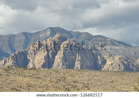 Red Rock Canyon in Las Vegas, Nevada - stock photo