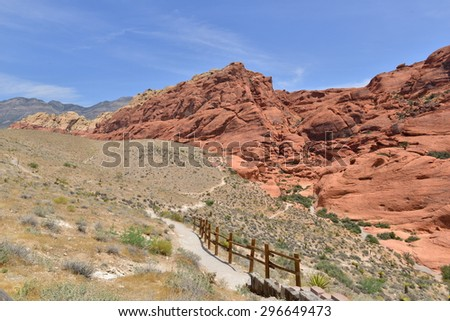 Red Rock Canyon in Nevada, USA - stock photo