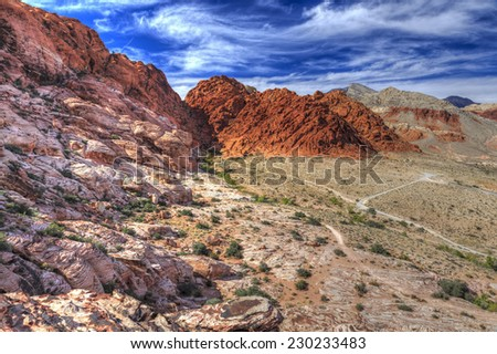 Red Rock Canyon National Conservation Area - stock photo