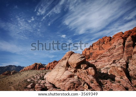 Red Rock Canyon National Conservation Area, Las Vegas, Nevada - stock photo