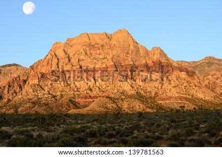 Red Rock Canyon nature area outside Las Vegas Nevada - stock photo