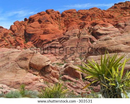 Red Rock Canyon, NV - stock photo