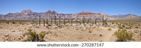 Red Rock Canyon panorama near Las Vegas Nevada. - stock photo