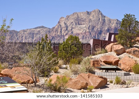 Red Rock Canyon visitor center Nevada. - stock photo