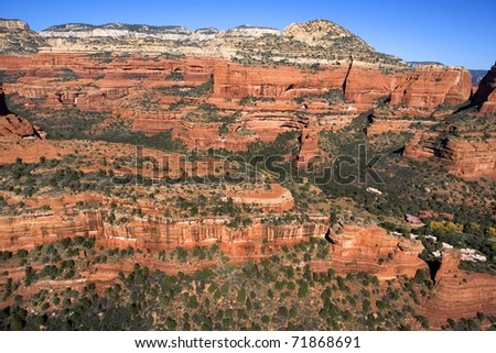 Red Rock Canyon Walls - stock photo
