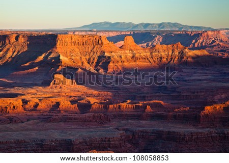Red Rock Mountains - stock photo