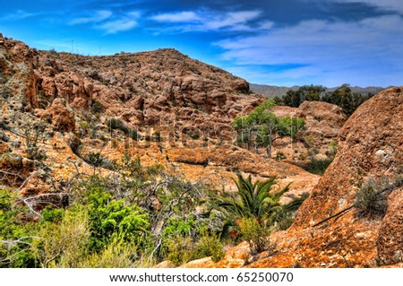 Red Rock Mountains in the high desert of Arizona - stock photo