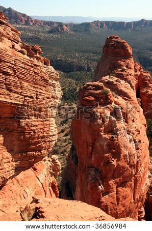 Red Rock Pillar Overlook - stock photo