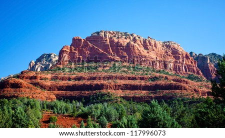 Red Rocks in Sedona, Arizona, USA - stock photo