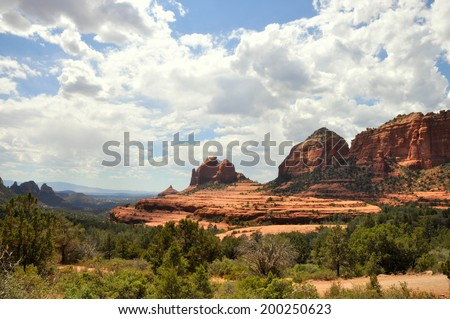 Red Rocks of Sedona, Arizona  - stock photo
