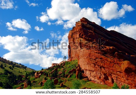 Red Rocks Park (Morrison, CO) - stock photo