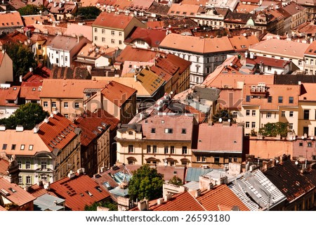 Red Roofs - stock photo