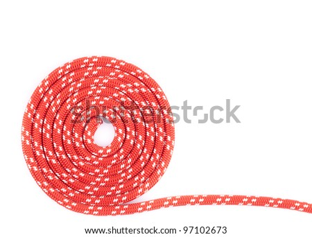 red rope spiral - stock photo