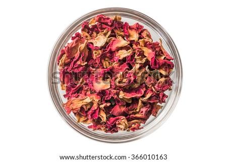 Red rose tea - stock photo