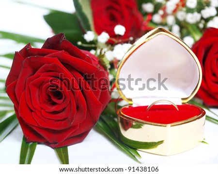 red roses - stock photo