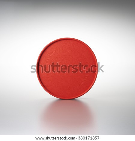 red round box - stock photo