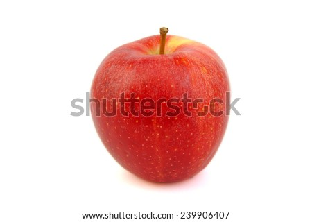 Red Royal Gala apple on white background - stock photo