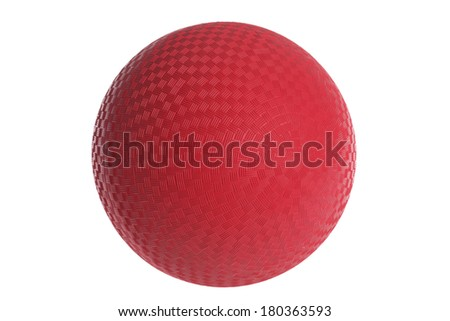 Red Rubber Ball - stock photo