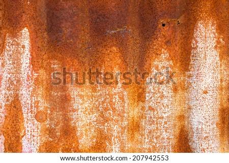 Red rusty metal - stock photo