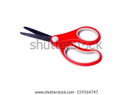 red scissors  - stock photo