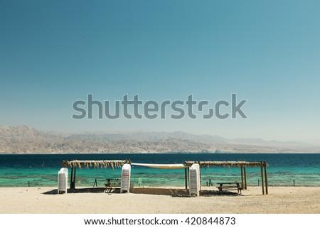 Red Sea beach - stock photo