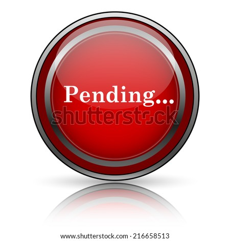 Red shiny icon on white background. Internet button. - stock photo