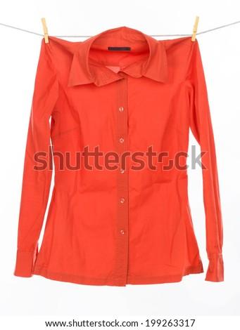 red shirt - stock photo