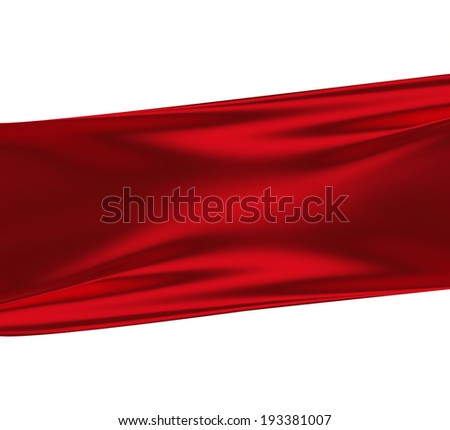 red silk against white as background - stock photo