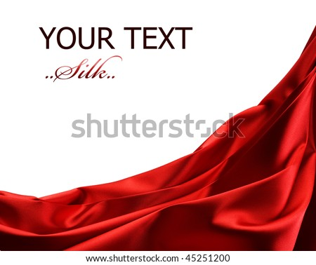 Red Silk Border - stock photo