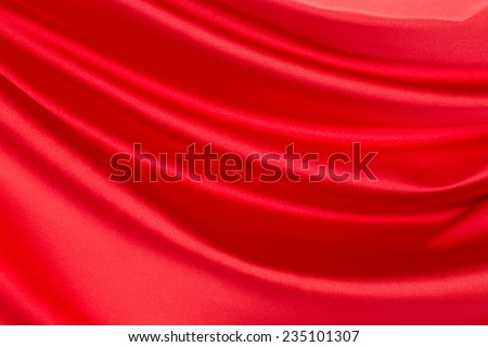 Red silk drapery. Isolated as a whole background.  - stock photo