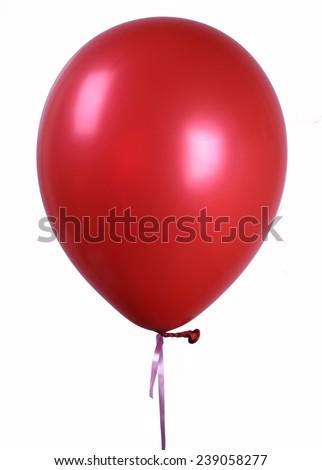 Red Single balloon - stock photo