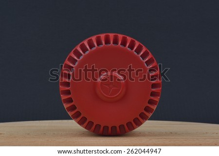 red siren - stock photo