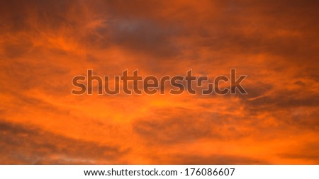 Red sky at sunset - stock photo