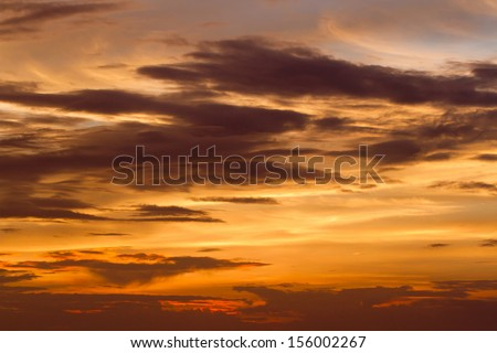 Red sky at sunset ,Red sky - stock photo