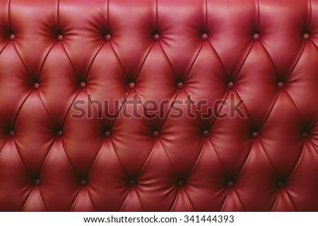 Red Sofa furniture - stock photo